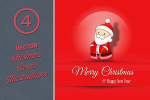 Vector Christmas Cards Illustrations