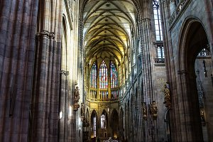St.Vitus Cathedral, Prague, Czech Republic.