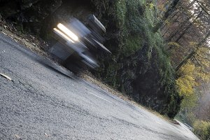 abstract road and motorbike
