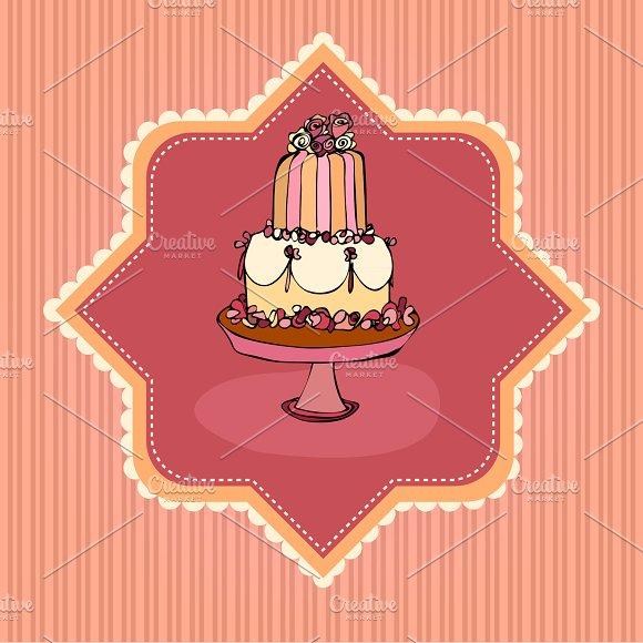 Retro Cake Card