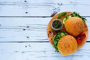 Tasty vegan sandwiches