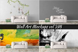 Wall Mockup - Sticker Mockup Vol 398