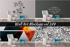 Wall Mockup - Sticker Mockup Vol 399