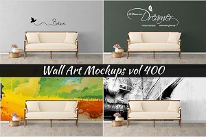 Wall Mockup - Sticker Mockup Vol 400
