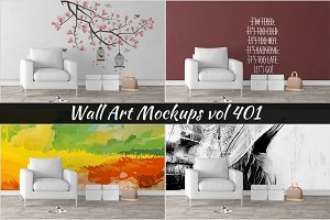 Wall Mockup - Sticker Mockup Vol 401