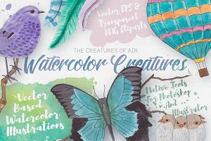 Watercolor Creatures vol. 2