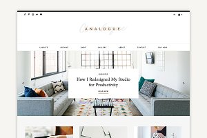 Analogue - Blog/Shop Theme