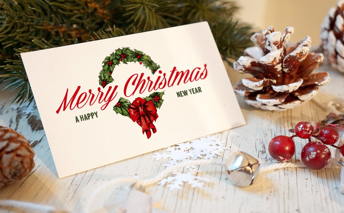 Christmas new year card mockup product mockups creative market m4hsunfo