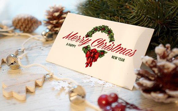 Christmas New Year Card Mockup ~ Product Mockups ~ Creative Market