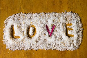 Love Salt Background