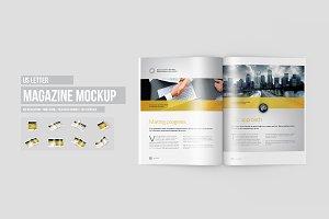 US Letter Magazine / Brochure Mockup