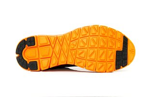 orange shoe sole
