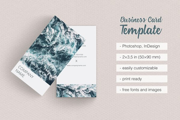 Business Card Templates Page Creative Market - Business card template for indesign