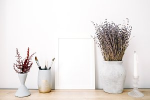 Photo frame and lavender