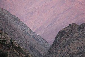 Arid Mountains at sunset