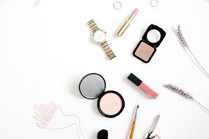 Female cosmetics arrangement