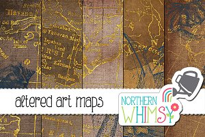 Distressed Altered Maps
