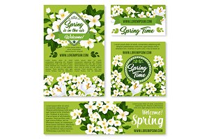 Vector spring floral design for holiday greetings