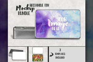 Rectangle sublimation tin mockup