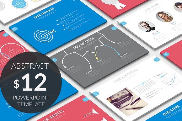 Abstract powerpoint template presentation templates creative market abstract powerpoint template presentations maxwellsz