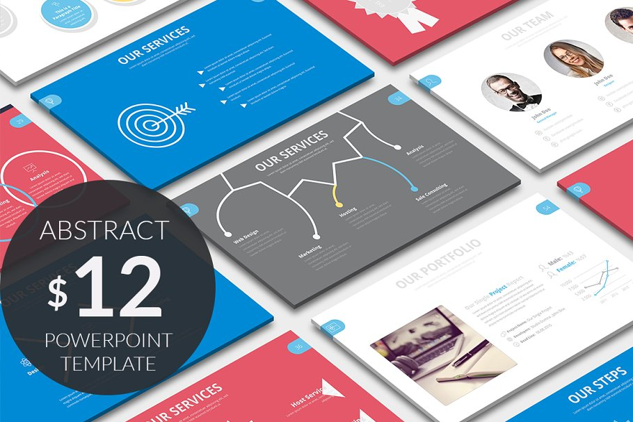 Abstract Powerpoint Template | Abstract Powerpoint Template Presentation Templates Creative Market