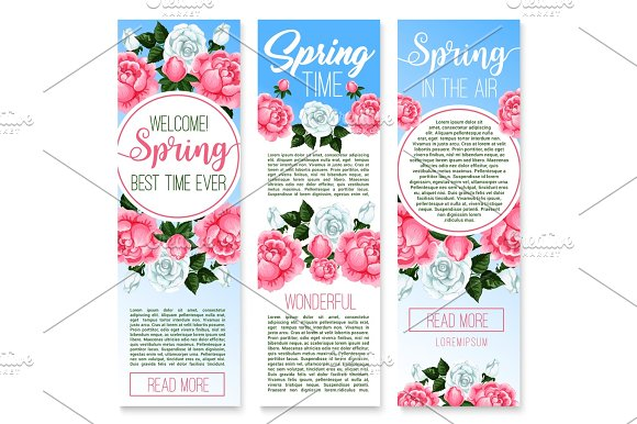 Spring holidays floral welcome banner template illustrations spring holidays floral welcome banner template illustrations pronofoot35fo Gallery