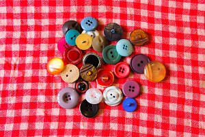 Buttons in Different Colours