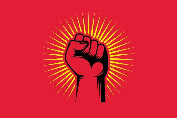 Revolution Hand Up Illustration