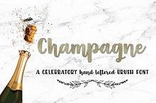 Champagne Script Handlettered Font
