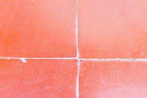 Tiled Floor in Red