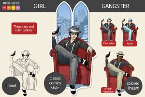 Retro Gangster Girl