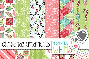 Christmas Patterns - Pink & Mint