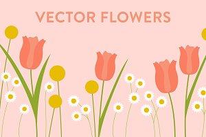 Vector Spring Flowers