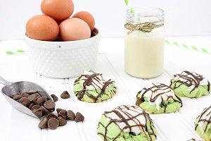 Pistachio Cookies baking scene