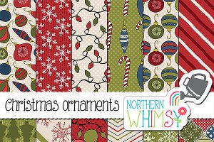 Christmas Ornament Digital Paper
