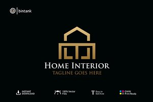 Home Interior - Real Estate Logo