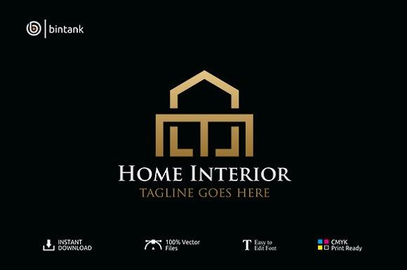 Home Interior Real Estate Logo