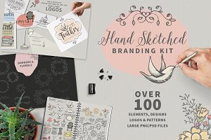 SKETCHED LOGO & CARD elements