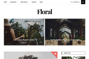 Floral - Personal WP Blog Theme