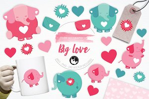Big Love illustration pack