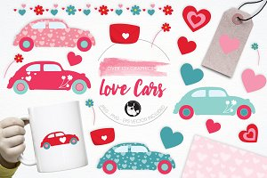 Love Cars illustration pack