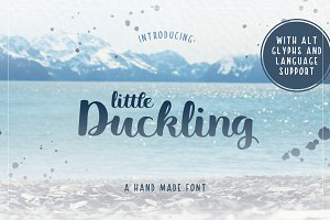 Little Duckling Hand Made Font