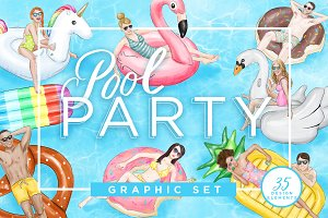Pool Party Graphic Kit