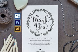 Wedding Thank You Printable Wpc27