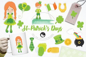 St. Patrick Days illustration pack