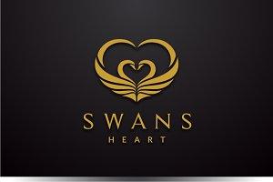 Swans Heart Logo