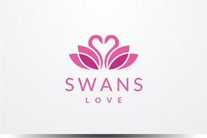 Swans Love Logo