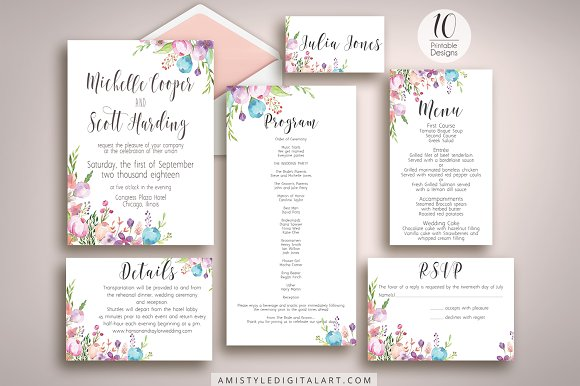 Fl Wedding Invitation Suite Invitations