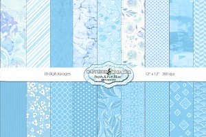 Fresh & Fun Blue 18 Paper Pack