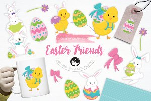 Easter Friends illustration pack